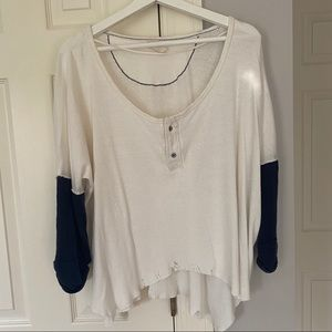 Free People 3/4 Sleeve Henley - Small